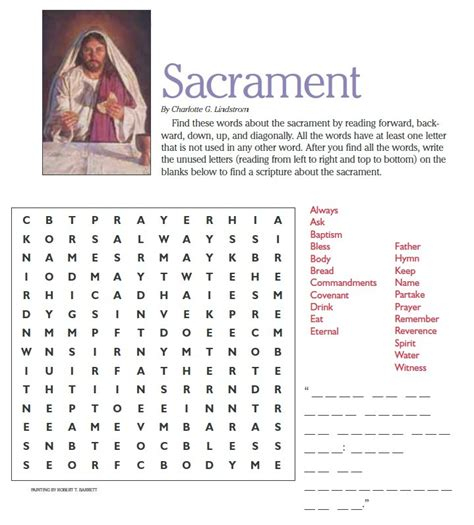 the cross word and sacrament books lds word search sacrament lds primary