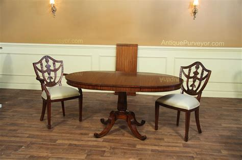 Small 44 Inch Expandable Round Dining With Leaves