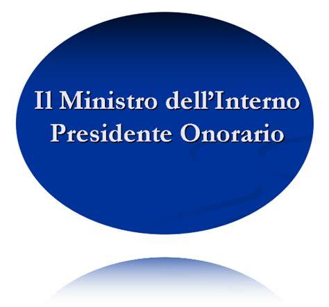 cassa mutua interno il ministro dell interno presidente onorario