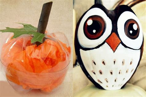 quick and easy halloween decoration ideas recycled things calabaza halloween con botella de pl 225 stico bricolaje10 com