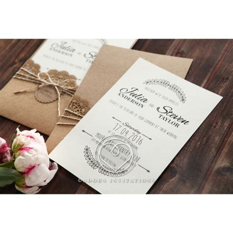 twine wedding invitations sydney country wedding rustic twine and craft paper laser cut