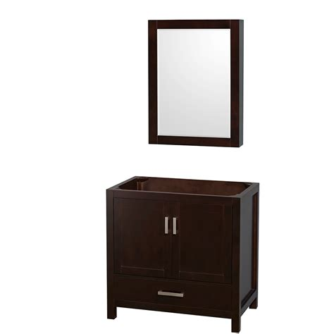 36 Inch Bathroom Vanity Cabinets Wyndham Collection Wcs141436sescxsxxmed Sheffield 36 Inch Single Bathroom Vanity In Espresso No