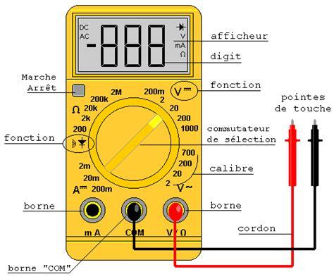 test de diode avec multimetre le multim 232 tre