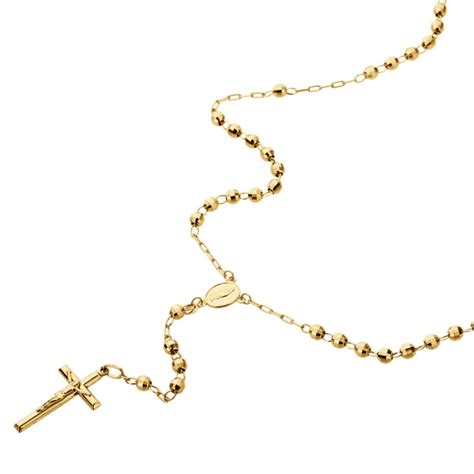 gold rosary bead necklace gold rosary necklace shop collectibles daily