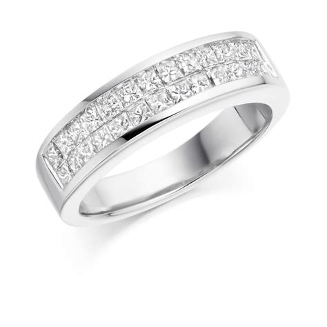 row princess cut half eternity ring zoe