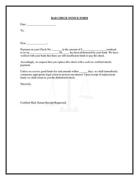 Return Check Notice Letter
