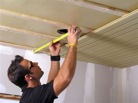 Installing A Ceiling by How To Install A Tongue And Groove Plank Ceiling How Tos Diy
