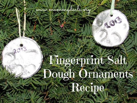 Holiday Crafts Pinterest - salt dough ornaments recipe mummy deals