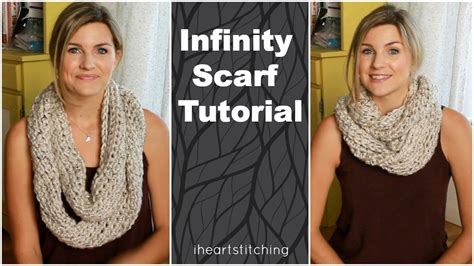 infinity scarf pattern knit youtube easy crochet infinity scarf tutorial youtube