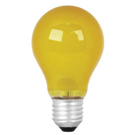 Yellow Led Light Bulbs Shop Mood Lites 25 Watt A19 Medium Base Yellow Decorative Incandescent Light Bulb At Lowes