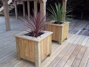 timber wooden garden planters