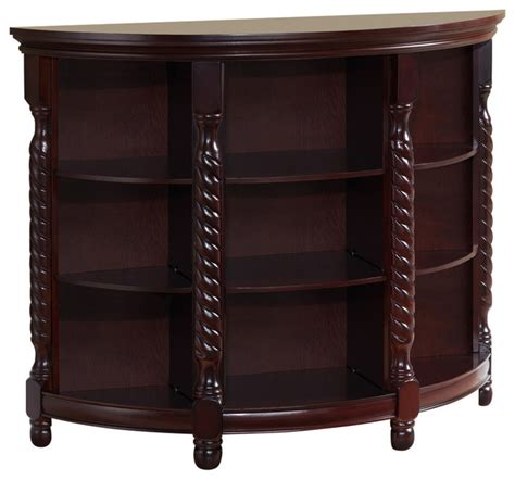 wood entryway buffet console sofa table cherry finish