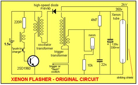 capacitor size in disposable xenon circuit light laser led circuits next gr