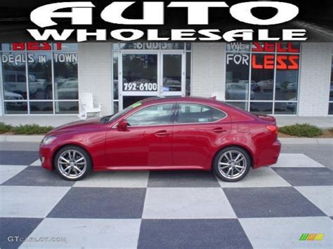 red lexus 2008 2008 matador red mica lexus is 250 26307684 gtcarlot