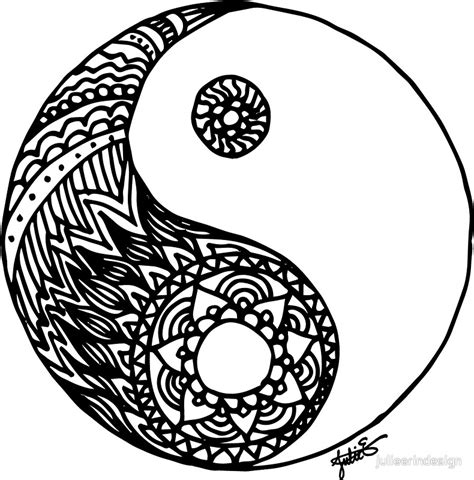 online yin yang coloring pages quot tangled yin yang quot stickers by julieerindesign redbubble