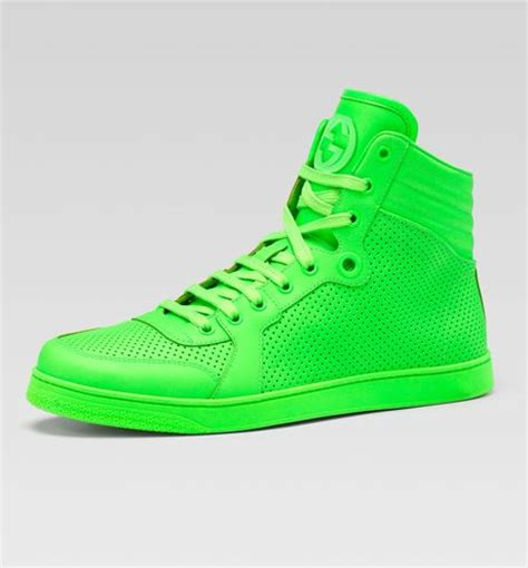 neon green sneakers s gucci sneakers lyst