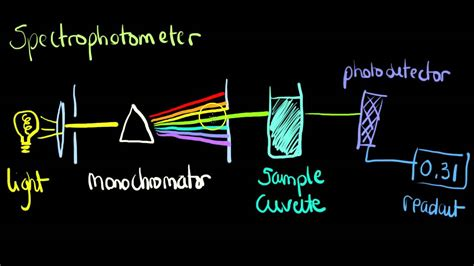 how a spectrophotometer works diagram clinchem basic spectrophotometer
