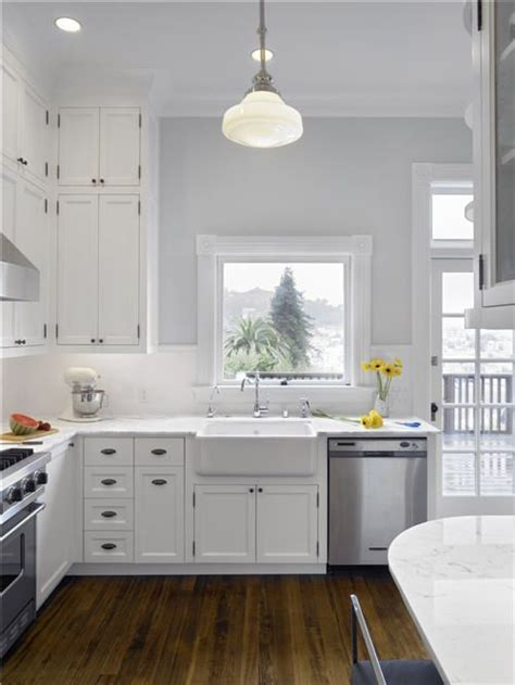 Colors For Kitchen Walls With White Cabinets by White Cabinets Kitchen Grey Walls Bright Kitchen