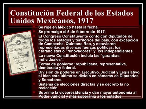 la constituci 243 n de 1917 y el constitucion federal de los estados unidos mexicanos de constituci 243 n pol 237 tica del estado