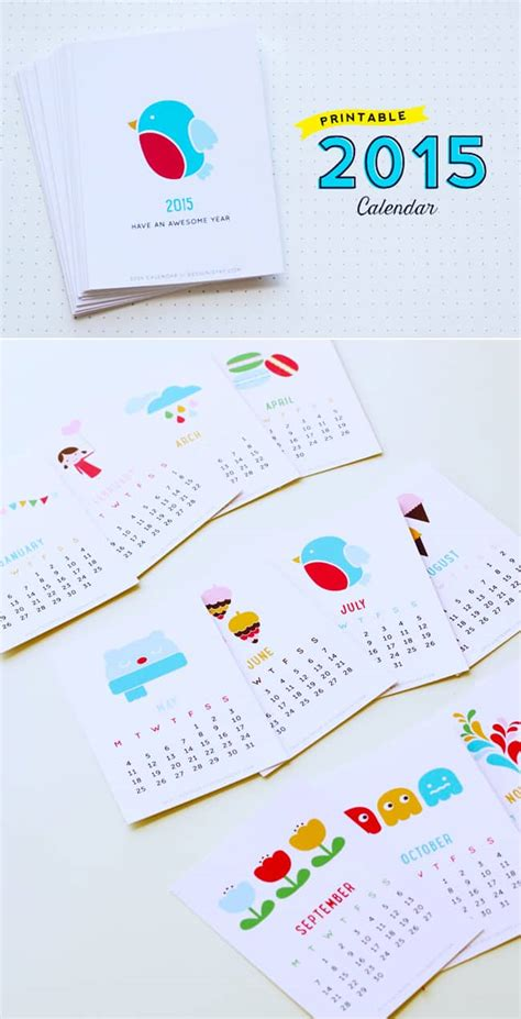 free colorful printable planner 2015 20 free printable calendars to ring in the new year