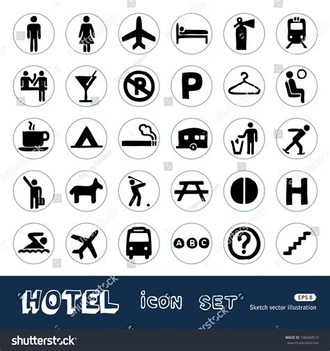 how to do hotel on doodle fit hotel and service web icons set sketch