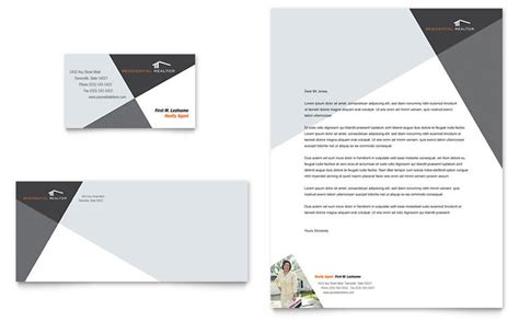 modern business letterhead contemporary modern real estate business card