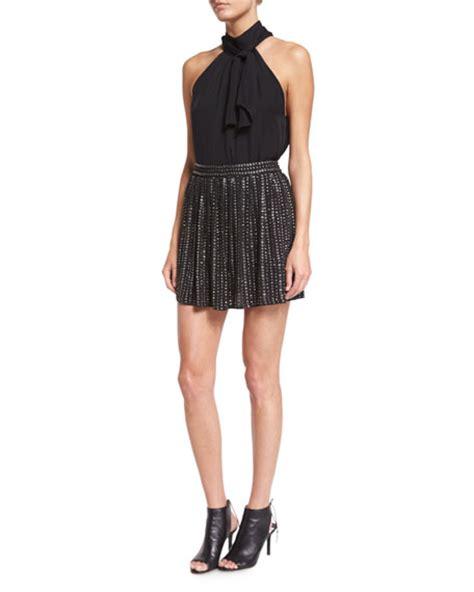 haute hippie leather sequin mini skirt black modesens