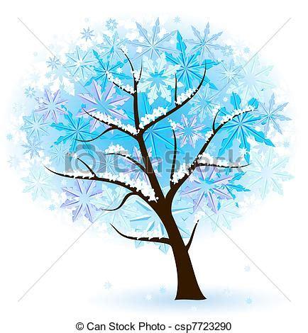 clipart inverno clipart vettoriali di stilizzato frutta albero inverno