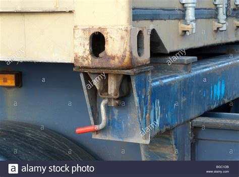 Twist Lock - shipping container twistlock connection on hgv in locked