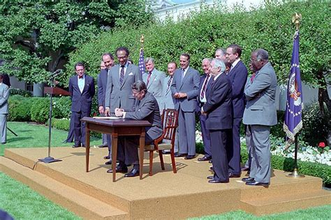 omnibus housing act signing ceremonies ronald reagan presidential library national archives and