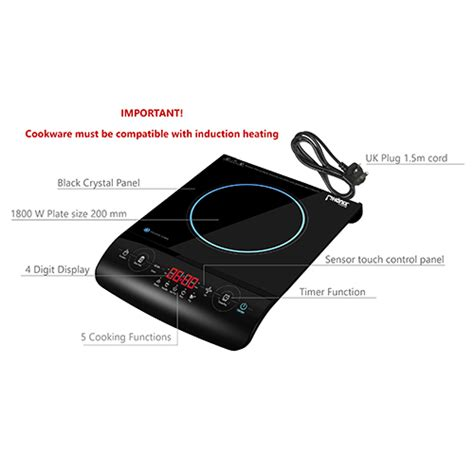 what is electric induction hob portable induction hob cooker single plate sensor timer led 2000w pi 01 new ebay