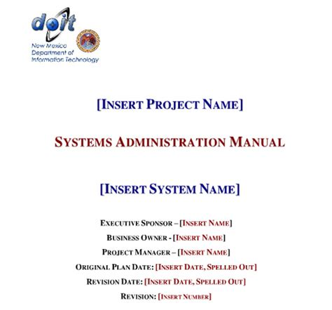 administrative manual template boring work made easy free templates for creating manuals