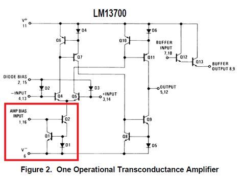 voltage controlled resistor lm13700 op lm13700 voltage electrical engineering stack exchange