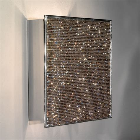 unique modern wall unique contemporary swarovski wall light