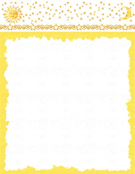 word stationery templates nature stationery themes page 1