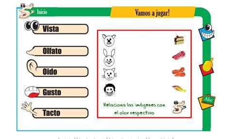 imagenes de juegos sensoriales cincosentidos juego escolar de los cinco sentidos