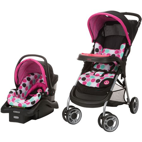 disney minnie mouse car seat and stroller minnie mouse dotty lift and stroll plus travel system from