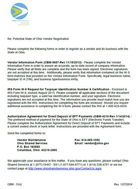 Letter For Vendor Registration So Potential Supplier Letter