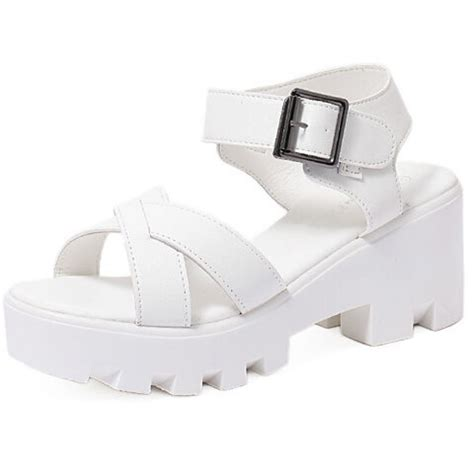 chunky white platform sandals white chunky cleated platform buckle sandals