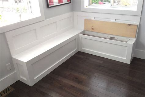 storage benches with seating bench for storage fitted with seat cushions and a kitchen table images frompo