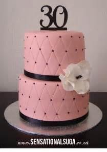 light pink black criss cross 30th birthday cake sensational suga