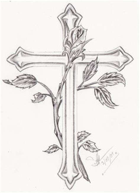 cross tattoos with flowers and vines vine cross tattoos collection