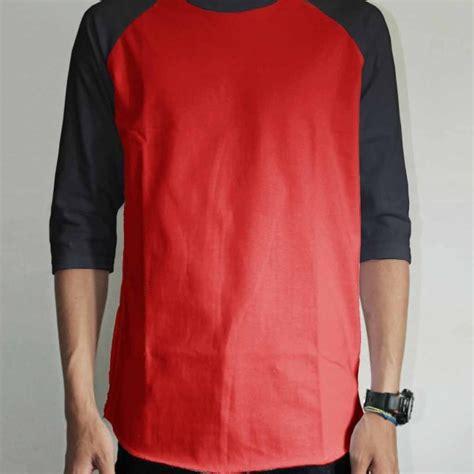 Polo Shirt Merah Cabe 1 toko jual grosir kaos distro raglan tangan hitam