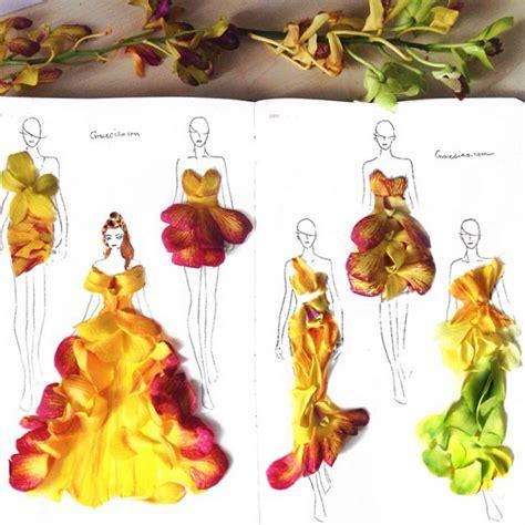 vestiti con i fiori abiti con petali di fiori gli sketch di grace ciao