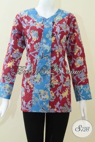 Wedges Murah Trendy Dan Nyaman Dipakai Wanita Motif Belang Sdw71 pakaian batik kerja wanita karir baju batik lengan