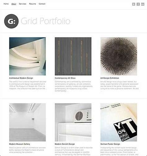 Grid Layout For Portfolio | 40 great wordpress themes with grid layouts creative