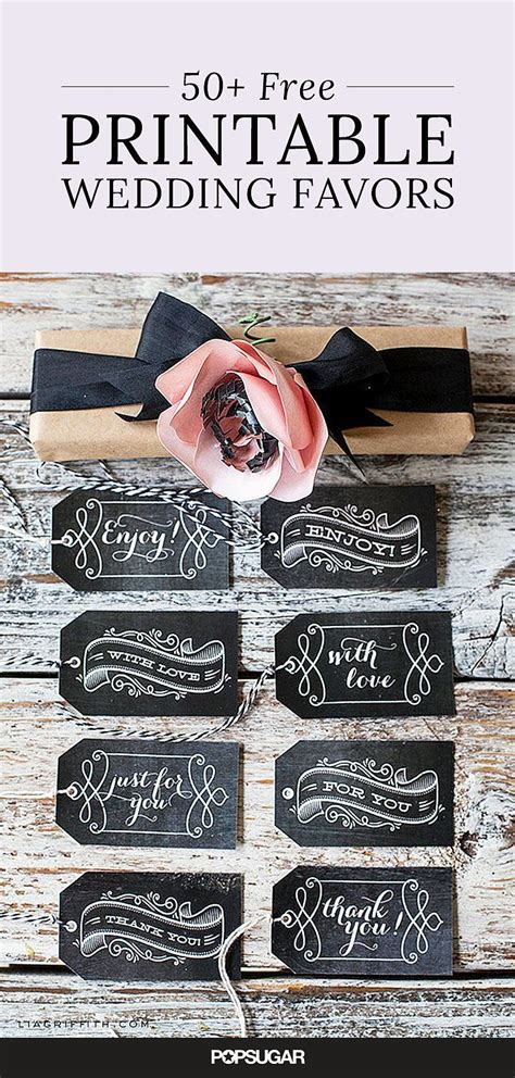 59 diy wedding ideas for 59 beautiful wedding favor printables to for free