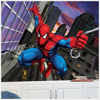 Spiderman Wall Murals boys wall murals spiderman batman avengers cars superman