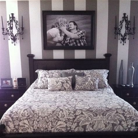 grey and white striped bedroom pin by ashley ranney on for the casa pinterest