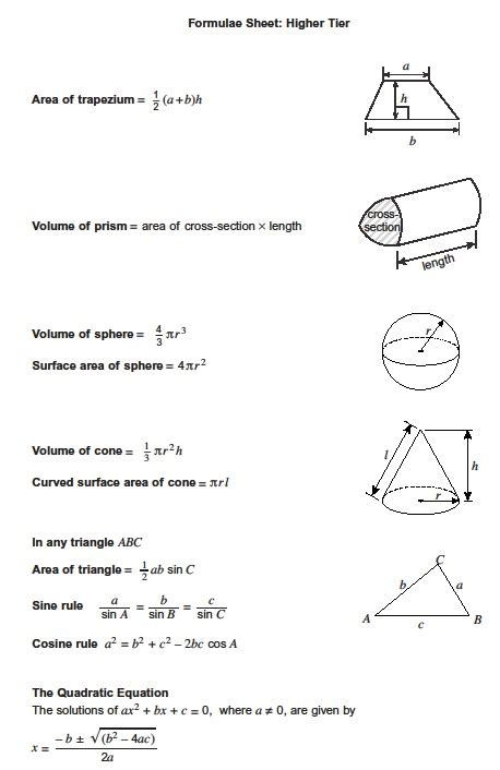 a level mathematics formulae black and white books formula sheets revision maths